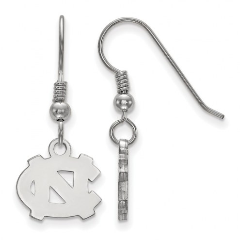 North Carolina Tar Heels Sterling Silver Extra Small Dangle Earrings