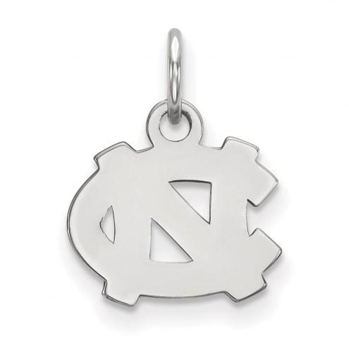 North Carolina Tar Heels Sterling Silver Extra Small Pendant