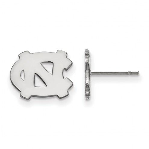 North Carolina Tar Heels Sterling Silver Extra Small Post Earrings