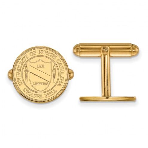 North Carolina Tar Heels Sterling Silver Gold Plated Cuff Links