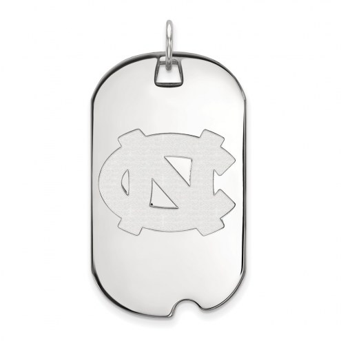 North Carolina Tar Heels Sterling Silver Large Dog Tag