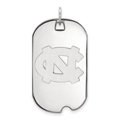 North Carolina Tar Heels Sterling Silver Large Dog Tag