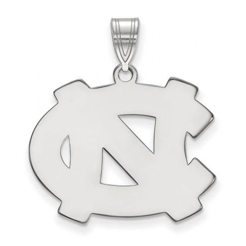 North Carolina Tar Heels Sterling Silver Large Pendant