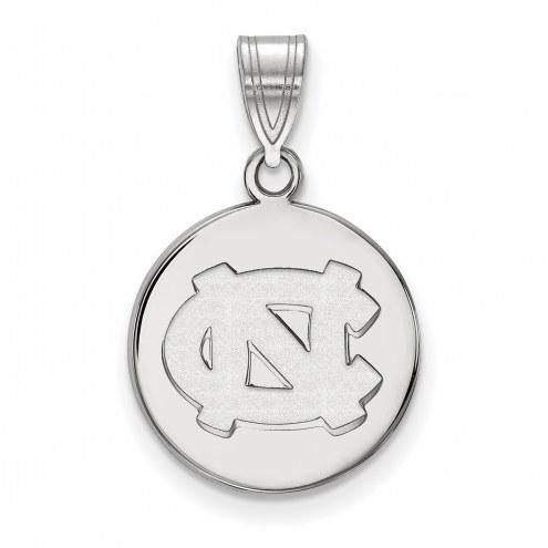 North Carolina Tar Heels Sterling Silver Medium Disc Pendant