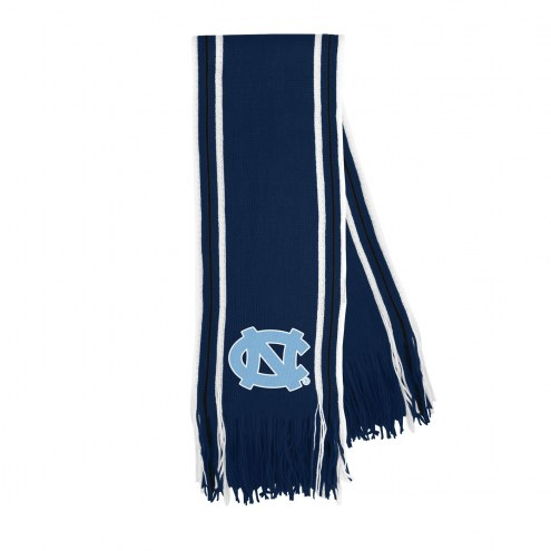 North Carolina Tar Heels Stripe Fringe Scarf