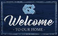 North Carolina Tar Heels Team Color Welcome Sign