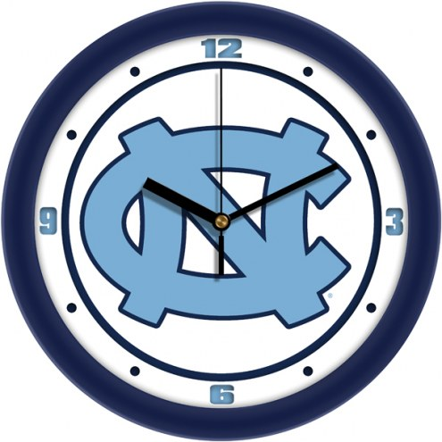 North Carolina Tar Heels Traditional Wall Clock