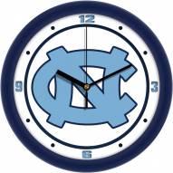 North Carolina Tar Heels Traditional Wall Clock