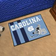 North Carolina Tar Heels Uniform Inspired Starter Rug