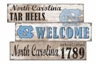North Carolina Tar Heels Welcome 3 Plank Sign