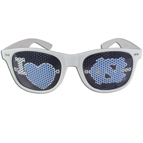 North Carolina Tar Heels White I Heart Game Day Shades