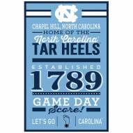 North Carolina Tar Heels Established Wood Sign