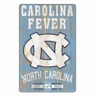 North Carolina Tar Heels Slogan Wood Sign