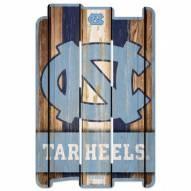 North Carolina Tar Heels Wood Fence Sign