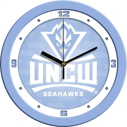 North Carolina Wilmington Seahawks Baby Blue Wall Clock