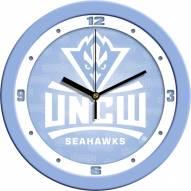 North Carolina Wilmington Seahawks Baby Blue Wall Clock