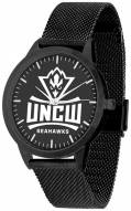 North Carolina Wilmington Seahawks Black Dial Mesh Statement Watch