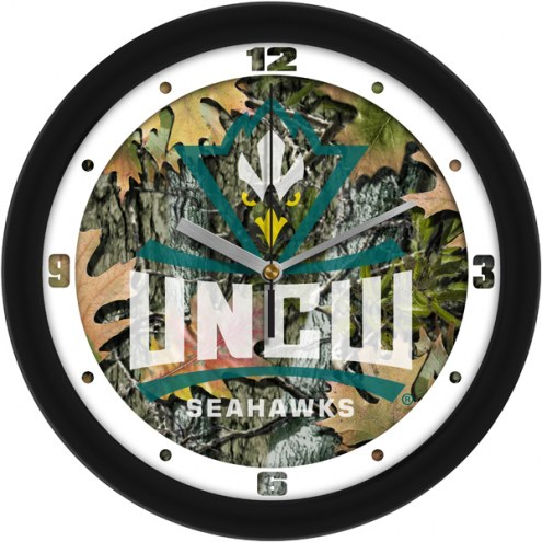 North Carolina Wilmington Seahawks Camo Wall Clock