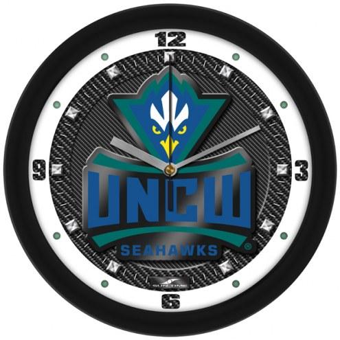 North Carolina Wilmington Seahawks Carbon Fiber Wall Clock
