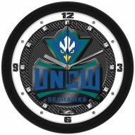 North Carolina Wilmington Seahawks Carbon Fiber Wall Clock
