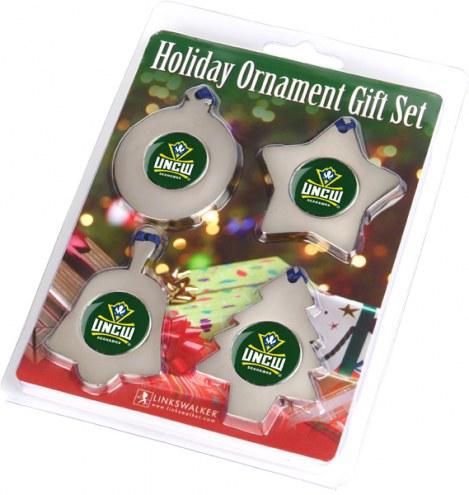 North Carolina Wilmington Seahawks Christmas Ornament Gift Set