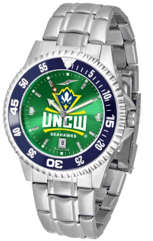 North Carolina Wilmington Seahawks Competitor Steel AnoChrome Color Bezel Men's Watch