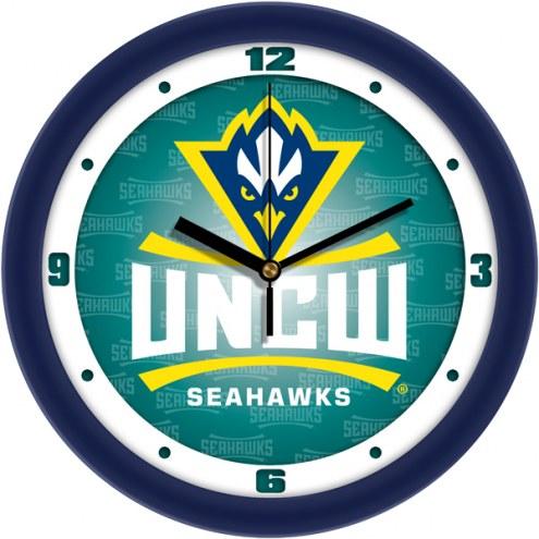 North Carolina Wilmington Seahawks Dimension Wall Clock