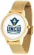 North Carolina Wilmington Seahawks Gold Mesh Statement Watch