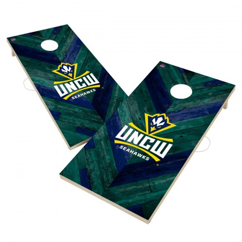 North Carolina Wilmington Seahawks Herringbone Cornhole Game Set