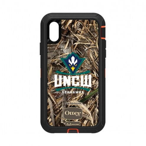 North Carolina Wilmington Seahawks OtterBox iPhone XR Defender Realtree Camo Case