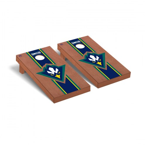 North Carolina Wilmington Seahawks Rosewood Stained Cornhole Game Set