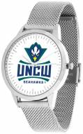 North Carolina Wilmington Seahawks Silver Mesh Statement Watch