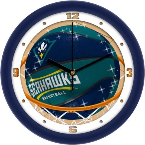 North Carolina Wilmington Seahawks Slam Dunk Wall Clock