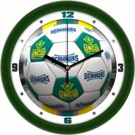 North Carolina Wilmington Seahawks Soccer Wall Clock