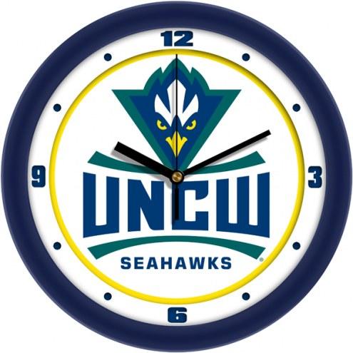 North Carolina Wilmington Seahawks Traditional Wall Clock