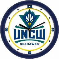 North Carolina Wilmington Seahawks Traditional Wall Clock