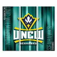 North Carolina Wilmington Seahawks Triptych Rush Canvas Wall Art