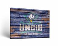 North Carolina Wilmington Seahawks Weathered Canvas Wall Art