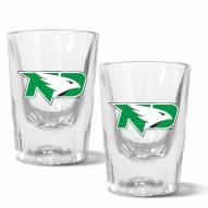 North Dakota Fighting Hawks 2 oz. Prism Shot Glass Set