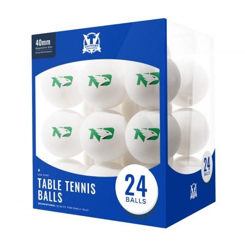 North Dakota Fighting Hawks 24 Count Ping Pong Balls