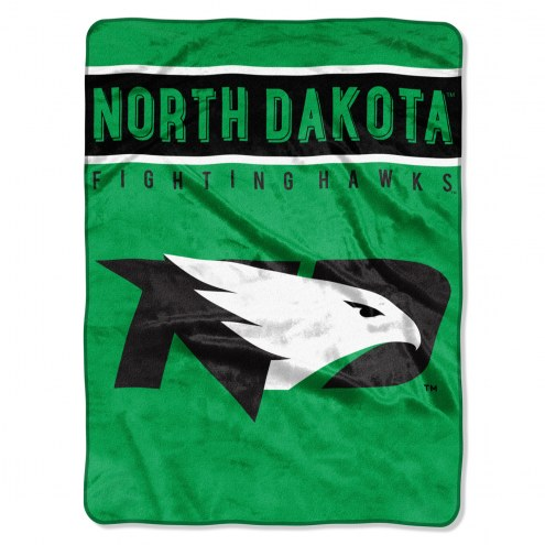 North Dakota Fighting Hawks Basic Plush Raschel Blanket