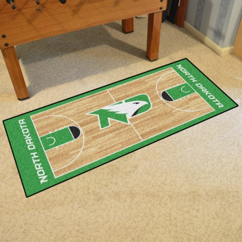 North Dakota Fighting Hawks Basketball Runner Rug