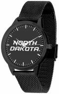 North Dakota Fighting Hawks Black Dial Mesh Statement Watch