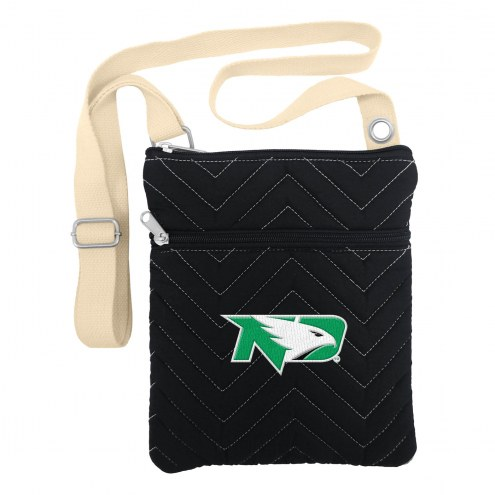 North Dakota Fighting Hawks Chevron Stitch Crossbody Bag