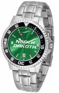 North Dakota Fighting Hawks Competitor Steel AnoChrome Color Bezel Men's Watch