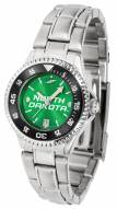 North Dakota Fighting Hawks Competitor Steel AnoChrome Women's Watch - Color Bezel