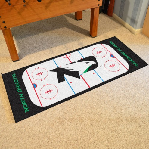 North Dakota Fighting Hawks Hockey Rink Runner Mat