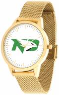 North Dakota Fighting Hawks Gold Mesh Statement Watch