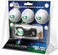 North Dakota Fighting Hawks Golf Ball Gift Pack with Spring Action Divot Tool