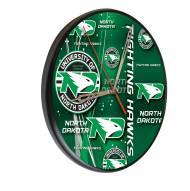 North Dakota Fighting Hawks Digitally Printed Wood Clock